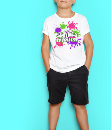 I Survived Splatfest Kids T-Shirt